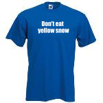 Don't eat yellow snow